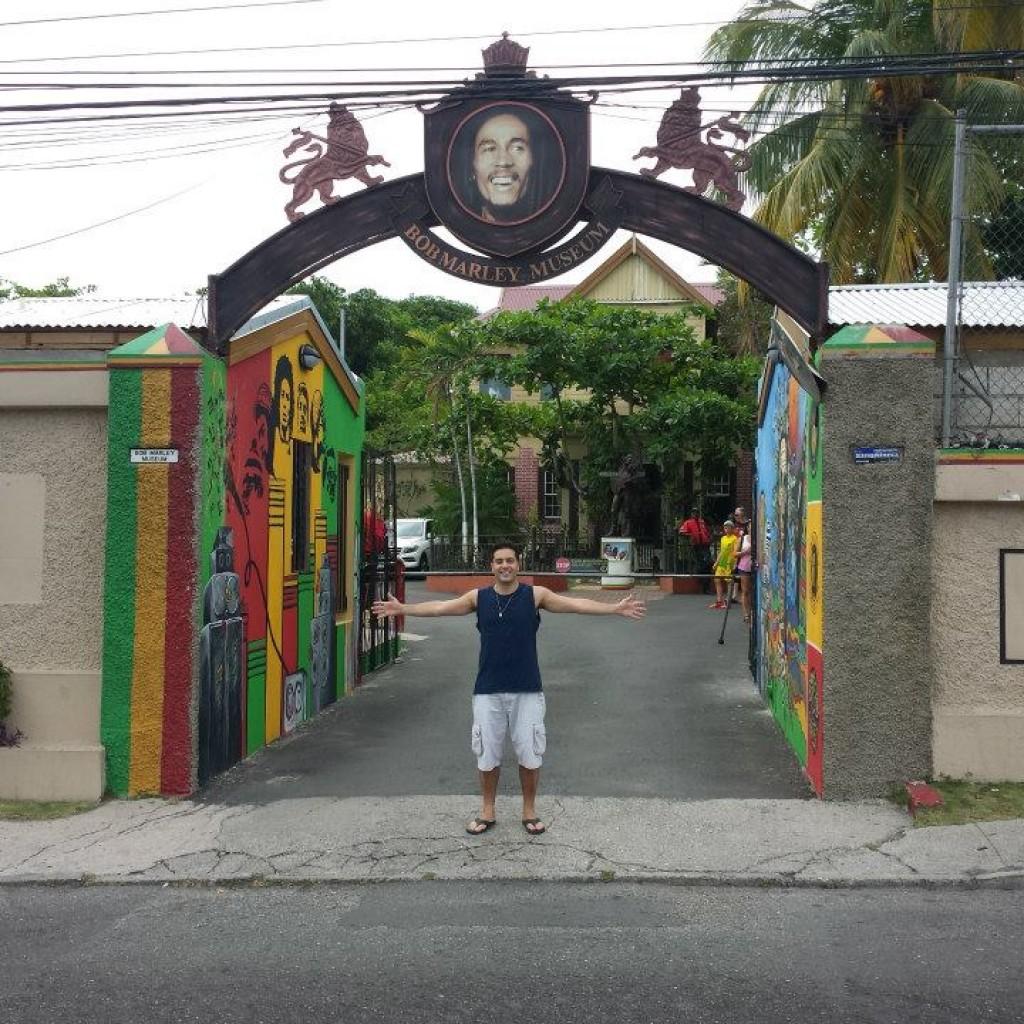 Entrada do Bob Marley Museu
