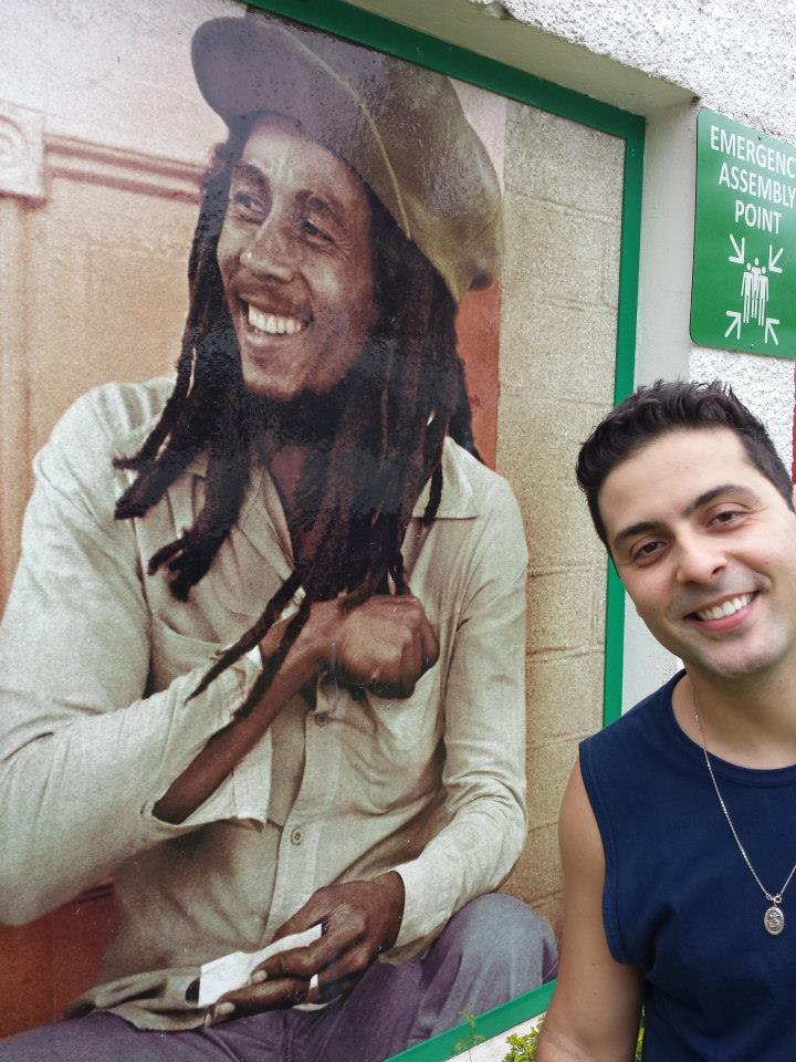Pintura Bob Marley em Parede
